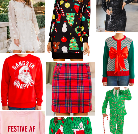 Christmas Party Outfits: Tacky, Glam, and Casual
